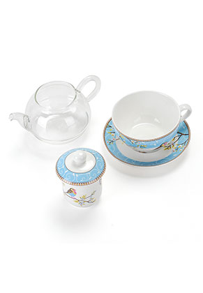 www.misstella.com - Tea for one set with birds