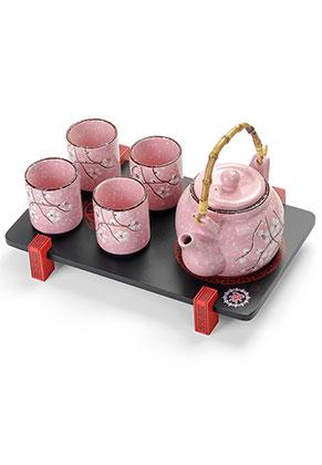 www.misstella.com - Four piece ceramic tea set with tray