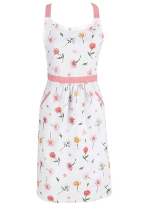 www.misstella.com - Clayre & Eef kitchen apron/cooking apron with flowers 85x70cm