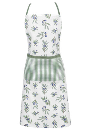 www.misstella.com - Clayre & Eef kitchen apron/cooking apron with olive branches 85x70cm