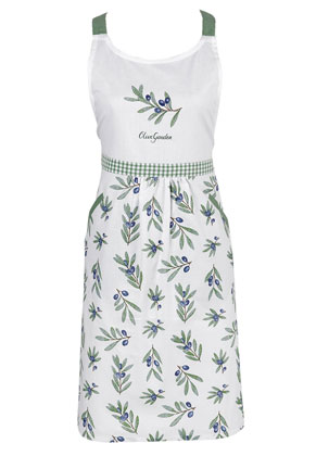 www.misstella.com - Clayre & Eef kitchen apron/cooking apron with olive branches