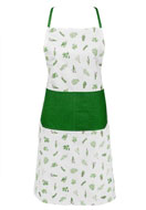 www.misstella.com - Clayre & Eef kitchen apron/cooking apron with herbs 85x70cm - F05701