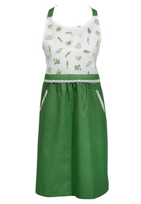 www.misstella.com - Clayre & Eef kitchen apron/cooking apron with herbs 85x70cm
