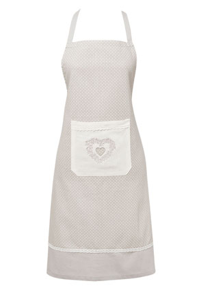 www.misstella.com - Clayre & Eef kitchen apron/cooking apron with heart 82x66cm