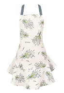 www.misstella.com - Clayre & Eef kitchen apron/cooking apron with lavender 75x68cm - F05710