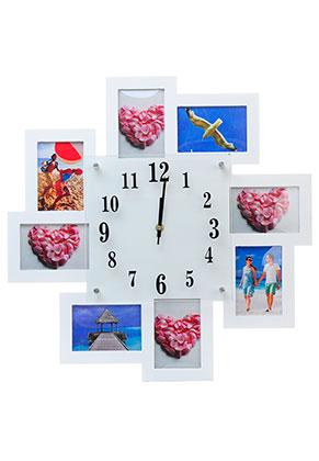 www.misstella.fr - Cadre multi photos avec horloge