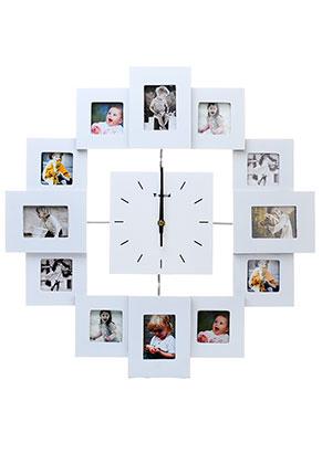 www.misstella.nl - Multi fotolijst met klok