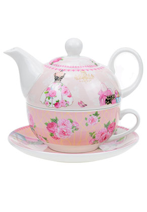 www.misstella.com - Tea for one set with flowers