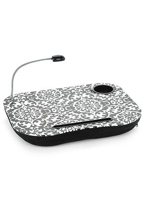 www.misstella.fr - Table pour PC portable/ coussin pour PC portable en bois avec lumière LED 44x34cm
