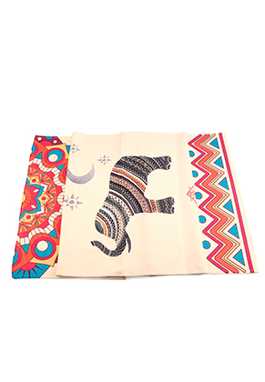 www.misstella.com - Microfiber yoga towel with elephant 183x63cm