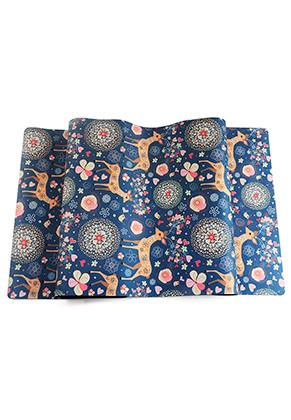 www.misstella.com - Rubber Yoga mat with flowers and deer 183x61x0,35cm
