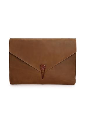 www.misstella.nl - Dunne leren laptop sleeve 13 inch 36x25,5x2cm
