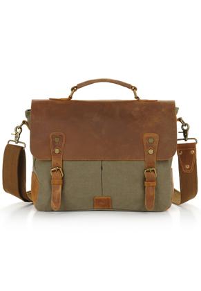 www.misstella.nl - Leren laptop sleeve / laptoptas 15,4 inch 36x28x10cm