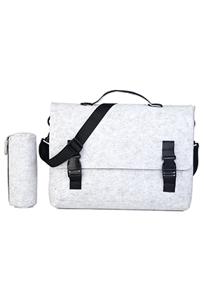 www.misstella.com - Felt laptop bag 14 inch with pencil case