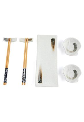 www.misstella.com - Sushi set contains plate, dishes, chopsticks and chopstick rest