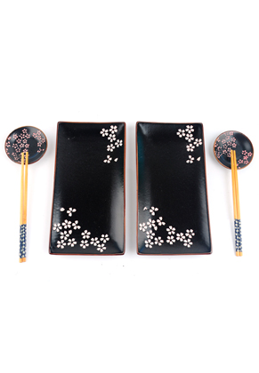 www.misstella.com - Sushi set contains plates, dishes and chopsticks