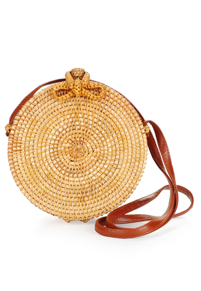 www.misstella.com - Imitation leather/rattan shoulder bag 20x8cm