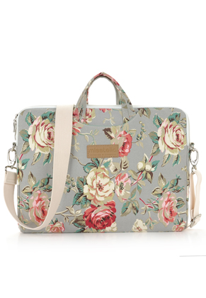 www.misstella.com - Misstella laptop sleeve / laptop bag 15 inch with roses