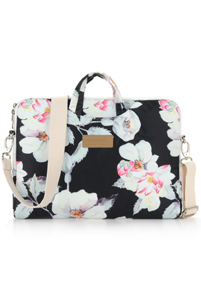 www.misstella.com - Misstella laptop sleeve / laptop bag 15 inch with flowers