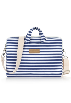 www.misstella.com - Misstella laptop sleeve / laptop bag 15 inch with stripes