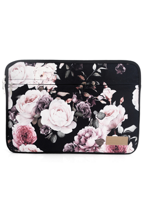 www.misstella.com - Misstella laptop sleeve 15,6 inch with flowers 39x28x2cm