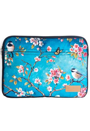 www.misstella.com - Misstella laptop sleeve 15,6 inch with flowers 39x28x2cm