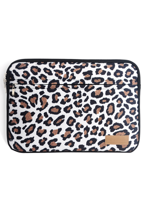 www.misstella.com - Misstella laptop sleeve 15,6 inch with leopard print 39x28x2cm