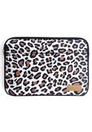 www.misstella.com - Misstella laptop sleeve 15,6 inch with leopard print 39x28x2cm - F06389