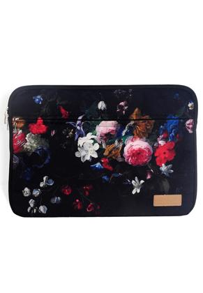www.misstella.nl - Misstella laptop sleeve 16 inch met bloemen 42x30x2,5cm