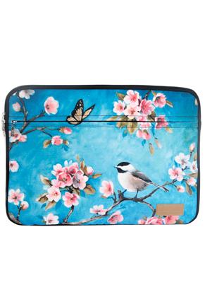 www.misstella.com - Misstella laptop sleeve 17 inch with flowers 46x34x2,5cm