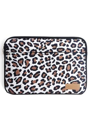 www.misstella.com - Misstella laptop sleeve 17 inch with leopard print 46x34x2,5cm
