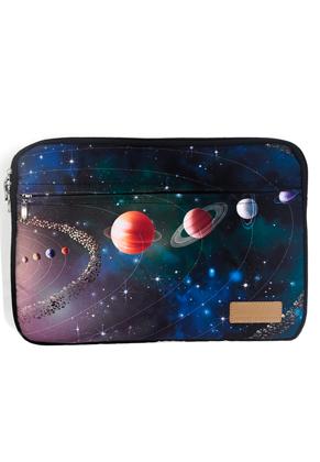 www.misstella.fr - Etui pour ordinateur portable 15,6 pouces avec impression d'espace 39x28x2,5cm