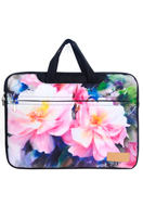 www.misstella.nl - Misstella laptop sleeve/laptoptas 15,6-16 inch met bloemen 42x30x2,5cm - F06446