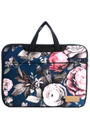www.misstella.nl - Misstella laptop sleeve/laptoptas 15,6-16 inch met bloemen 42x30x2,5cm - F06449