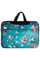 www.misstella.nl - Misstella laptop sleeve/laptoptas 17 inch met bloemen 46x33x2,5cm - F06450
