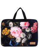 www.misstella.nl - Misstella laptop sleeve/laptoptas 17 inch met bloemen 46x33x2,5cm - F06451