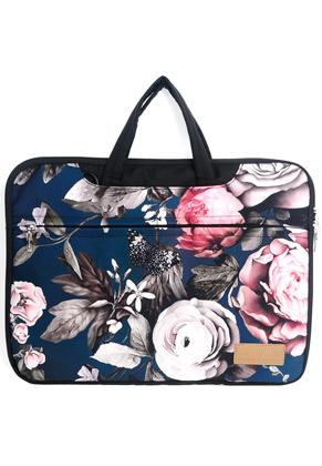 www.misstella.com - Misstella laptop sleeve/laptop bag 17 inch with flowers 46x33x2,5cm