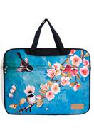 www.misstella.nl - Misstella laptop sleeve/laptoptas 17 inch met bloemen en vogels 46x33x2,5cm - F06453