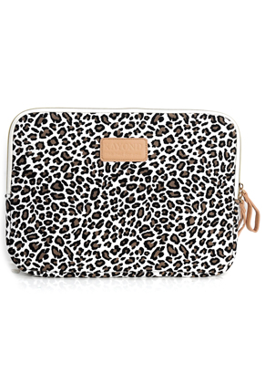 www.misstella.com - Kayond laptop sleeve 13,3 inch with leopard print