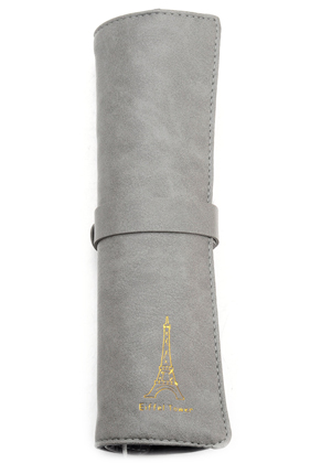 www.misstella.com - Imitation leather roll up pencil case 23,5x19,5cm