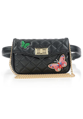 www.misstella.com - Imitation leather bum bag/shoulder bag quilted