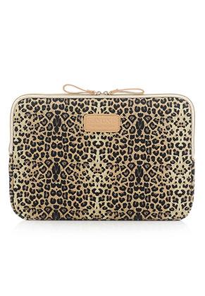 www.misstella.com - Kayond laptop sleeve 15,4 inch with leopard print 38x26x2cm