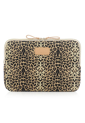 www.misstella.com - Kayond laptop sleeve 15,6 inch - 16 inch with leopard print 40x29x2cm