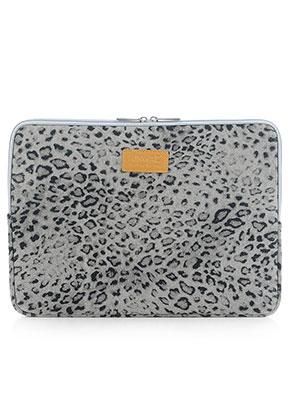 www.misstella.com - Kinmac laptop sleeve 13,3 inch with leopard print 34x25x1,5cm