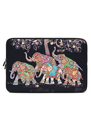 www.misstella.com - Laptop sleeve 15,4 inch with elephants 37x25,5x2cm