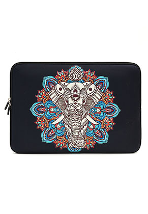 www.misstella.nl - Laptop sleeve 15,4 inch met olifant 37x25,5x2cm