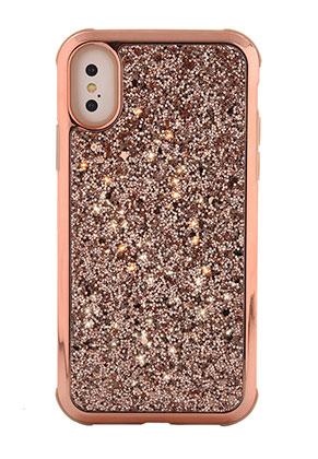 www.misstella.fr - Housse pour portable back cover en synthétique iPhone X avec paillettes 14,8x7,6cm