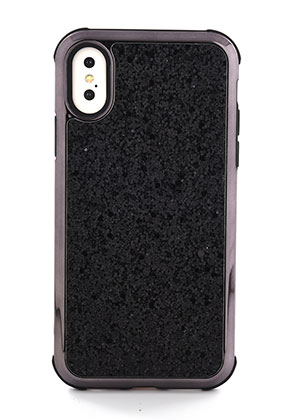 www.misstella.nl - Kunststof telefoonhoesje voor iPhone X met glitters 14,8x7,6cm
