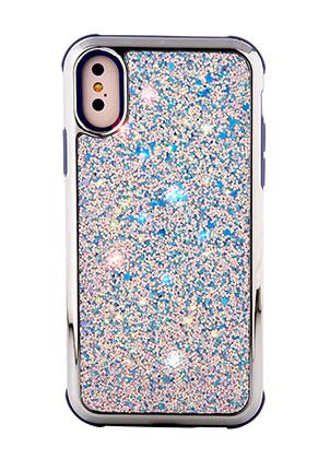 www.misstella.fr - Housse pour portable en synthétique iPhone X avec paillettes 14,8x7,6cm