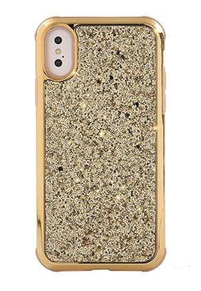 www.misstella.nl - Kunststof back cover telefoonhoesje voor iPhone X met glitters 14,8x7,6cm